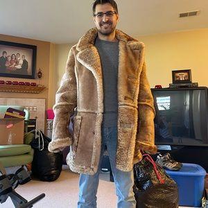 Macklemore style Leather/fur jacket